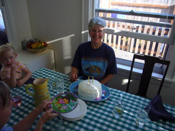 Molly Cutting Cake