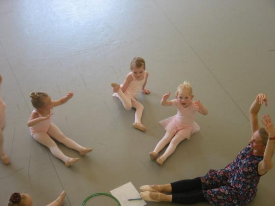 Doing Warmups in Ballet Class