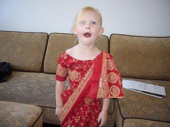 Sophie in Sari