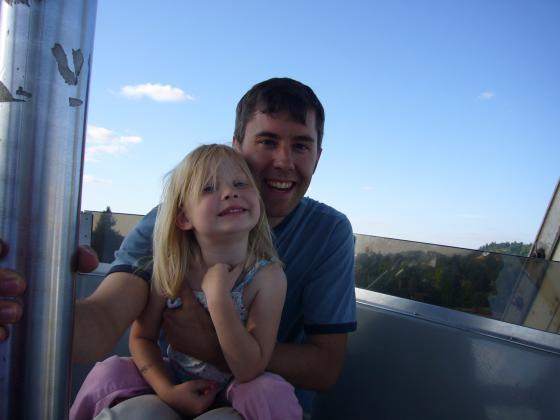 Sophie and Shad on the Ferris Wheel