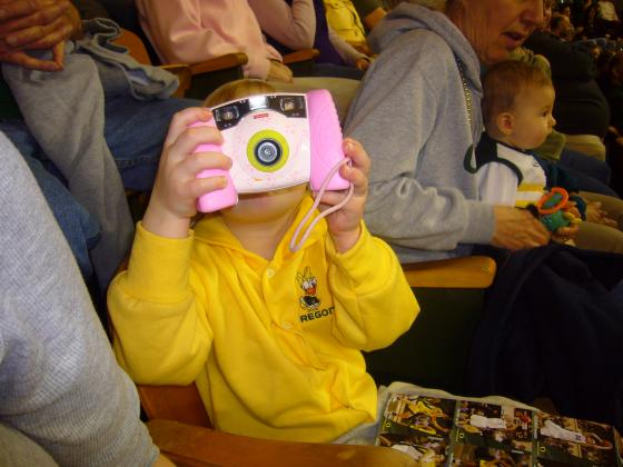 Sophie taking pictures