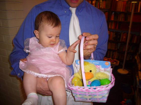 Lillie with Easter Basket