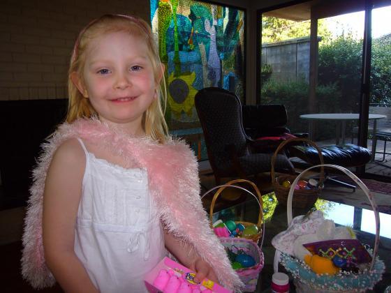 Sophie with her Easter Basket