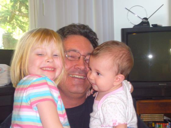 The girls with their Granddad