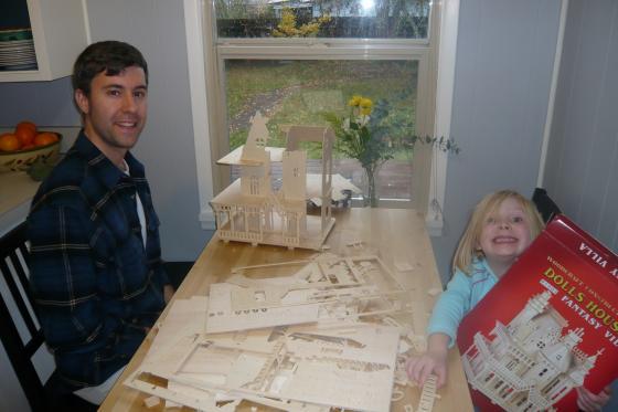 Assembling the dollhouse