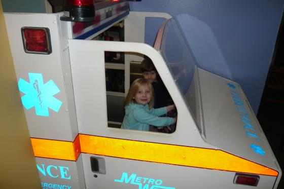 Sophie in the ambulance