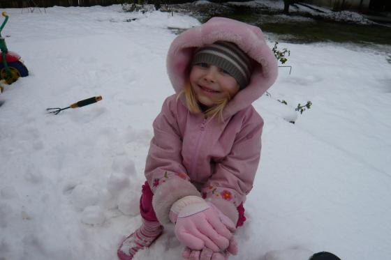 Sophie in the snow