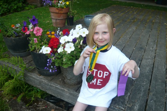 Sophie with Medal