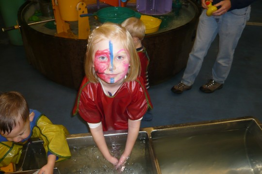 """Playing in the """"Water Works"""" area"""