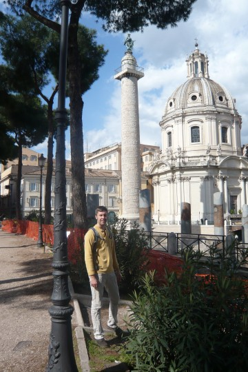 Shad in front of Trajan's column