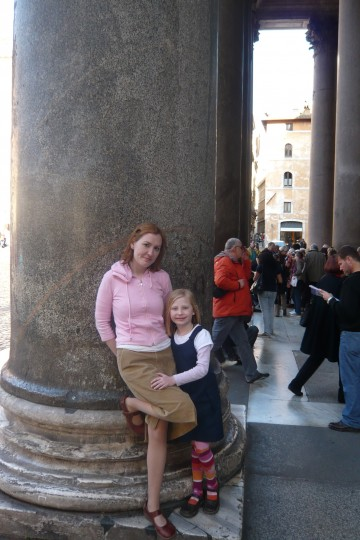 Columns in front of the Pantheon