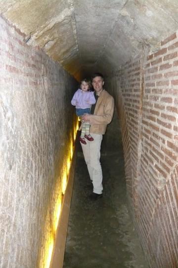 Under the Roman theater