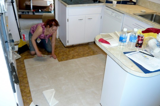 174_BeckyPuttingInKitchenFloor